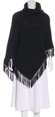 Loro Piana Suede-Trimmed Cashmere Poncho