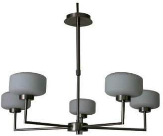 Linea BerliNO Five Light Chandelier in Chrome