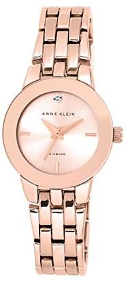 Anne Klein Women's Agnes Quartz Watch with Rose Gold Dial Analogue Display and Rose Gold Alloy Bracelet AK/N1930RGRG