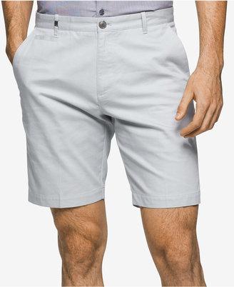 Calvin Klein Men's Slim-Fit Tonal Stripe Shorts $65 thestylecure.com