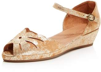 Kenneth Cole Gentle Souls Women's Lily Moon Leather Wedge Flats