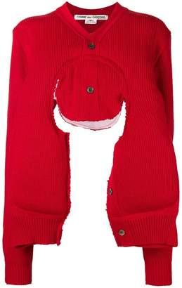 Comme des Garcons cut-out sweater