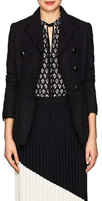 Proenza Schouler Women's Tweed Asymmetric Double-Breasted Blazer - Black