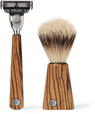 Czech & Speake Zebrano Wood Shaving Set