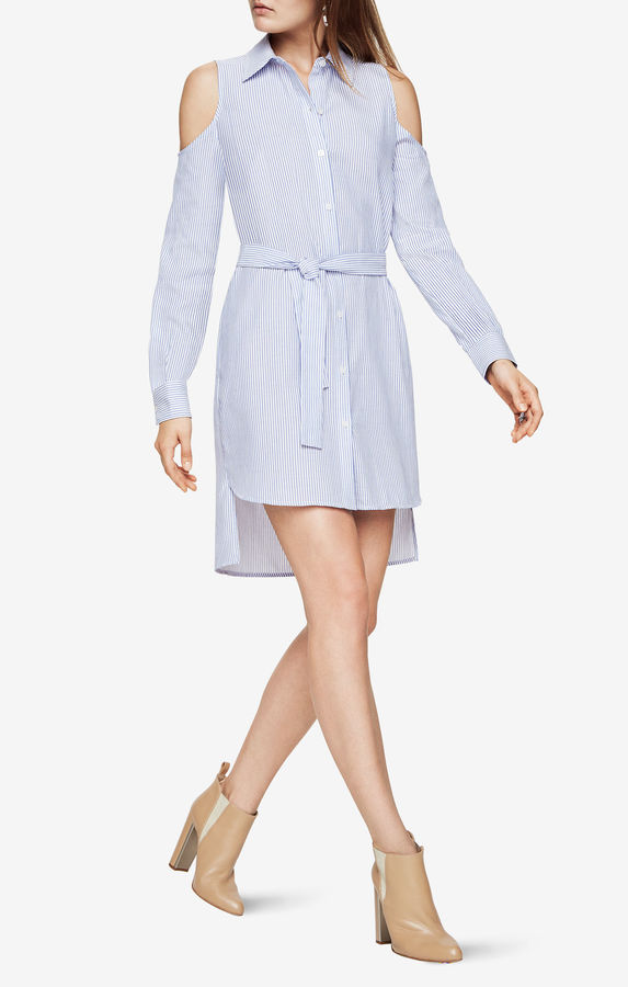 BCBGMAXAZRIAAni Cold-Shoulder Shirt Dress