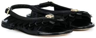 Roberto Cavalli Junior petal detail sandals