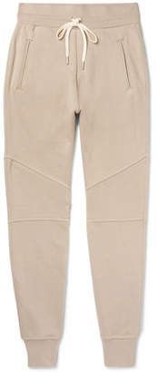 John Elliott Slim-Fit Tapered Panelled Loopback Cotton-Jersey Sweatpants