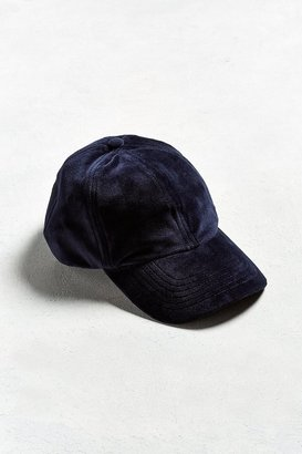 Urban Outfitters UO Velour Baseball Hat $19 thestylecure.com