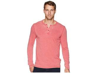Lucky Brand Sueded Burnout Henley Shirt