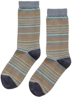 Velvet by Graham & Spencer MULTI STRIPE CREW SOCK BY LITTLE RIVER SOCK MILL