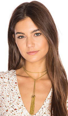 Vanessa Mooney Keiko Necklace in Metallic Gold. $52 thestylecure.com