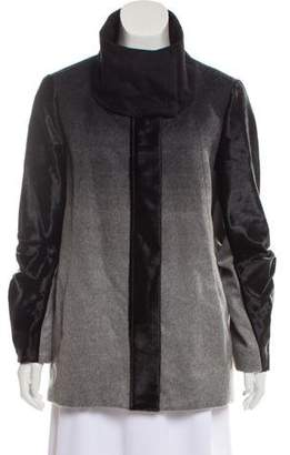 Helmut Lang Contrasted Ombré Coat