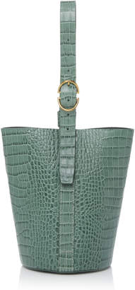 Trademark Crocodile Embossed Small Classic Bucket Bag