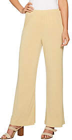 Joan Rivers Classics Collection JoanRivers Petite Length Pull-on Jersey KnitPalazzo Pants