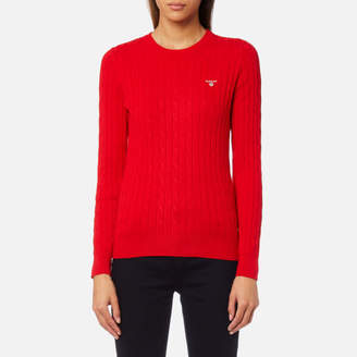 Gant Women's Stretch Cotton Cable Crew Jumper