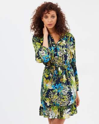 J.Crew Silk Ruffle Dress