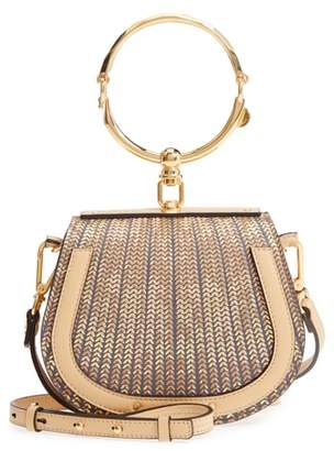 Chloé Small Nile Sequin Leather Bracelet Crossbody Bag