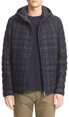 Men's Moncler 'Blanchard' Tartan Plaid Wool Down Jacket $1,820 thestylecure.com