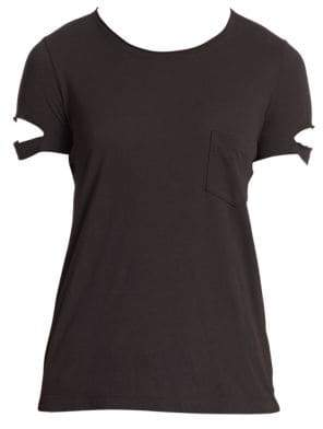 Helmut Lang Women's Pocket Cotton Tee - Black - Size XS