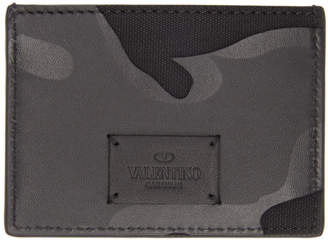 Valentino Black Garavani Camo Card Holder