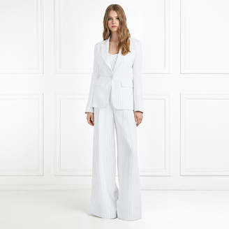Rachel Zoe Lee Pinstripe Pleated Wide-Leg Pants