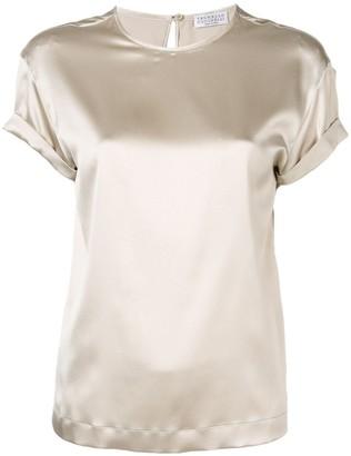 Brunello Cucinelli brass-embellished blouse