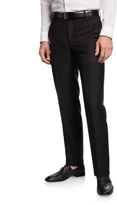 Santorelli Men's 130s Wool Twill Dress Pants