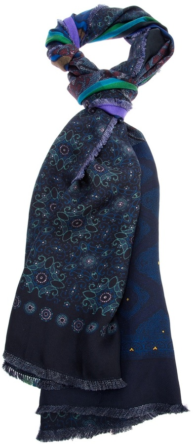 Pierre Louis Mascia Pierre-Louis Mascia contrast print silk scarf