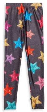 Girl's Sequin Star Leggings