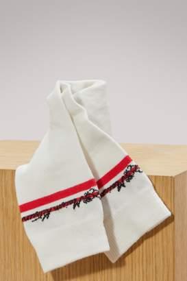MAISON KITSUNÉ Cotton striped socks