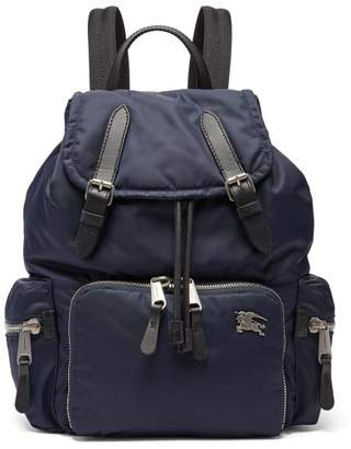 Burberry Equestrian Knight Plaque Padded Backpack - Womens - Navy