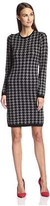Society New York Women's Houndstooth Jacquard Dress