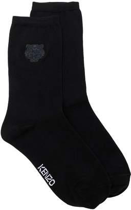 Kenzo Tiger logo embroidered socks