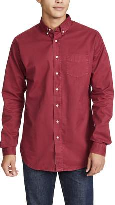 Schnaydermans Schnayderman's Button Down Overdyed Shirt