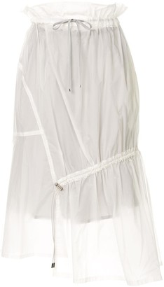 Ujoh drawstring detail sheer skirt
