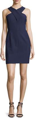 Elizabeth and James Elliot Sleeveless Cutout Stretch Crepe Mini Dress, Royal/Black