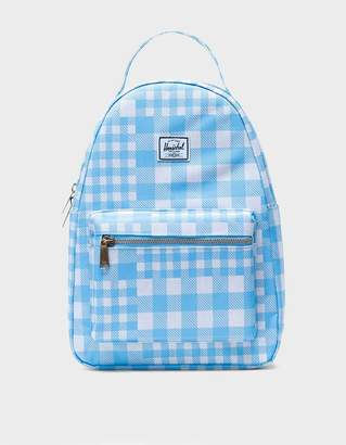 Herschel Nova Small Backpack in Gingham Alaskan Blue