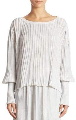 ADAM by Adam Lippes Ribbed Knit Blouse