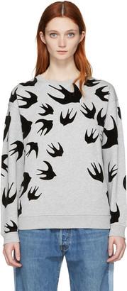McQ Alexander Mcqueen Grey Swallow Pullover $330 thestylecure.com