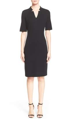 St. John Elbow Sleeve Pique Milano Knit Dress
