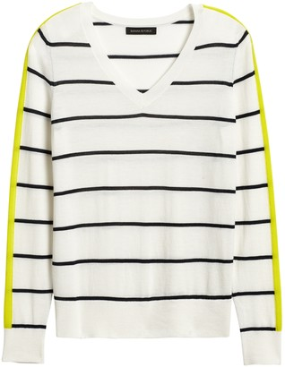 Banana Republic Washable Merino Side-Stripe Sweater