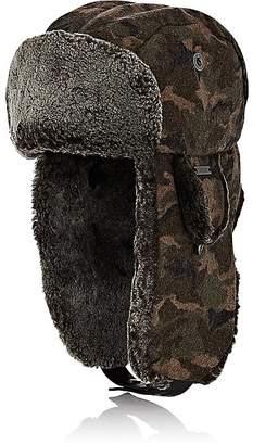 Crown Cap Men's Camouflage Melton Trapper Hat