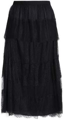 RED Valentino Tiered Corded Lace And Point D'esprit Midi Skirt