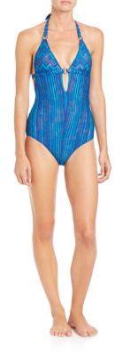 MissoniOne-Piece Halter Swimsuit