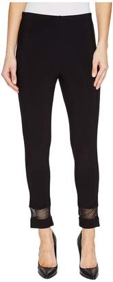 Tribal Travel Pack And Go Jersey Mesh Detail Straight 25 Capris Women's Casual Pants