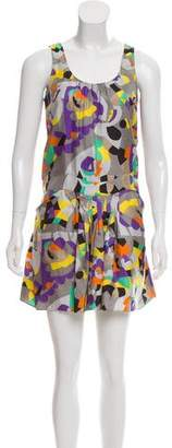 See by Chloe Printed Silk Dress