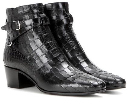 Saint LaurentSaint Laurent Blake 40 Jodhpur Leather Ankle Boots