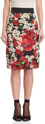 Dolce & Gabbana Textured Floral Skirt