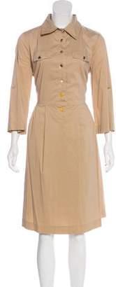 Tory Burch Long Sleeve Midi Dress