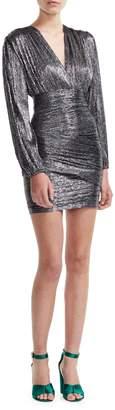 Maje Preco Runny Lurex Draped Mini Dress